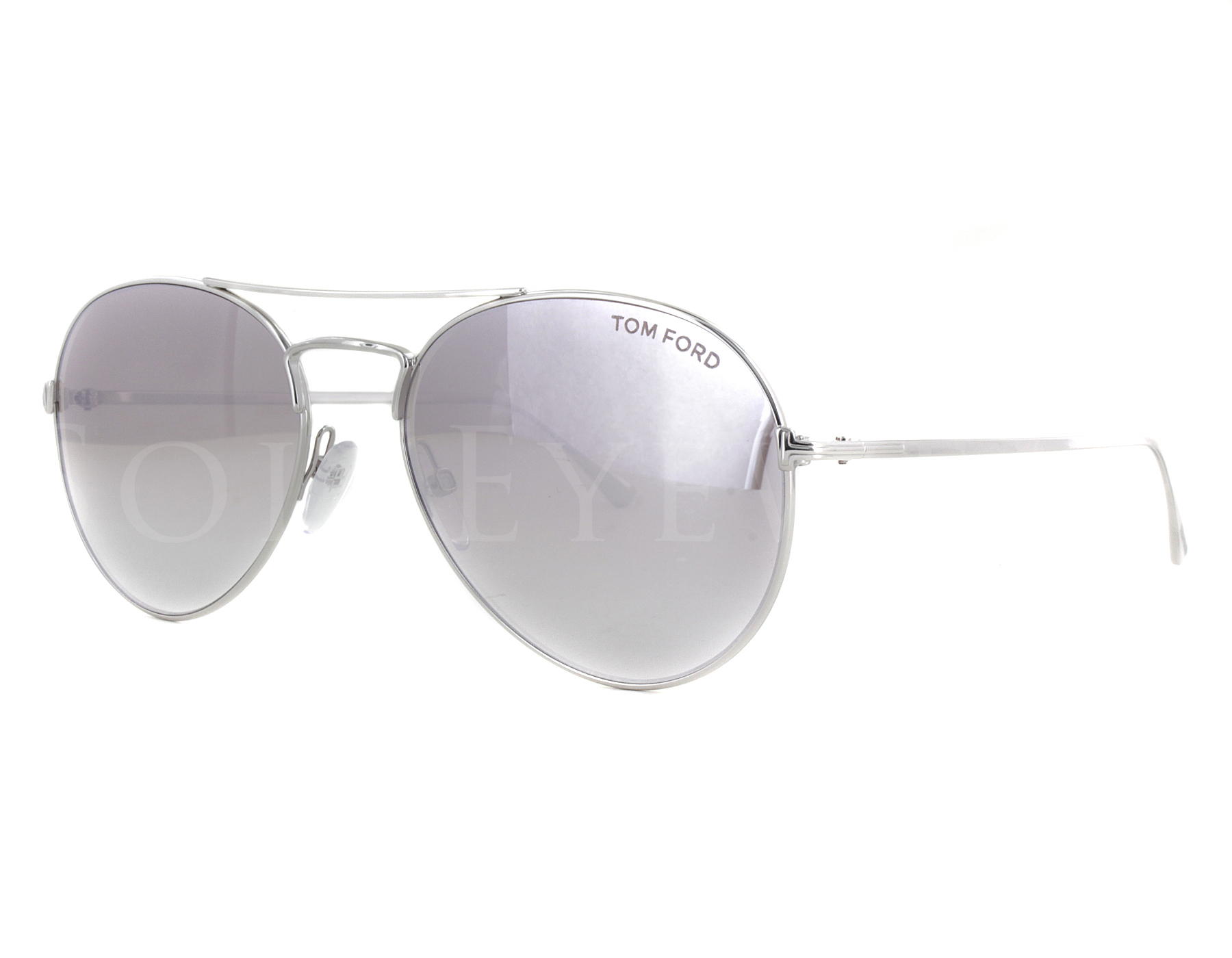 1f216af56d2b Details about NEW Tom Ford FT0551 18Z Ace Rhodium Shiny Silver   Violet  Sunglasses (NO CASE)