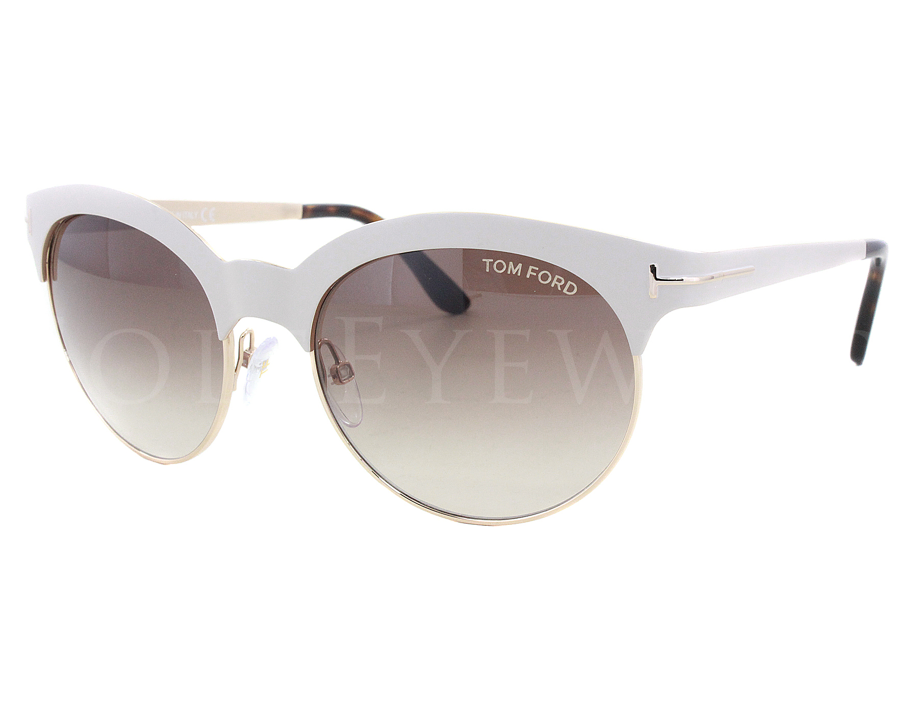 d96c1147fd4 Details about NEW Tom Ford FT 0438 28F Angela Shiny Rose Gold   White  Sunglasses (NO CASE)