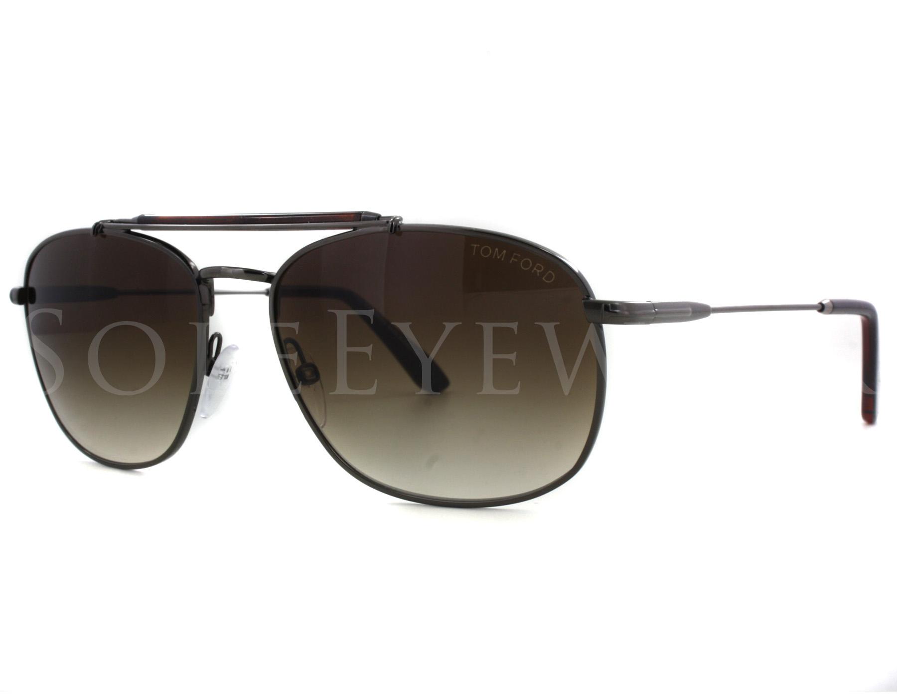 0e592273bd0ca Details about NEW Tom Ford FT0339-09F Marlon Ruthenium Havana Grey Green  Sunglasses (NO CASE)