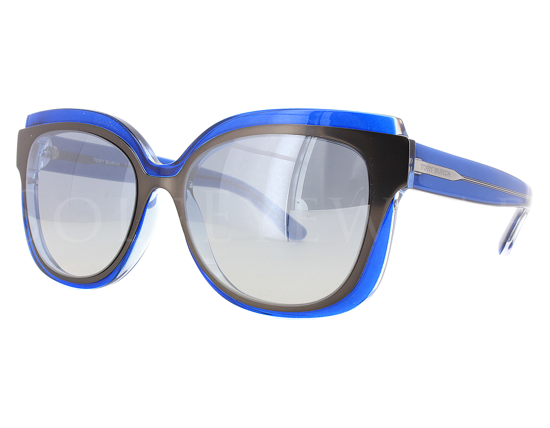 a0c02507f5b Details about NEW Tory Burch TY9046 16057B Navy Crystal   Pewter Flash  Gradient Sunglasses