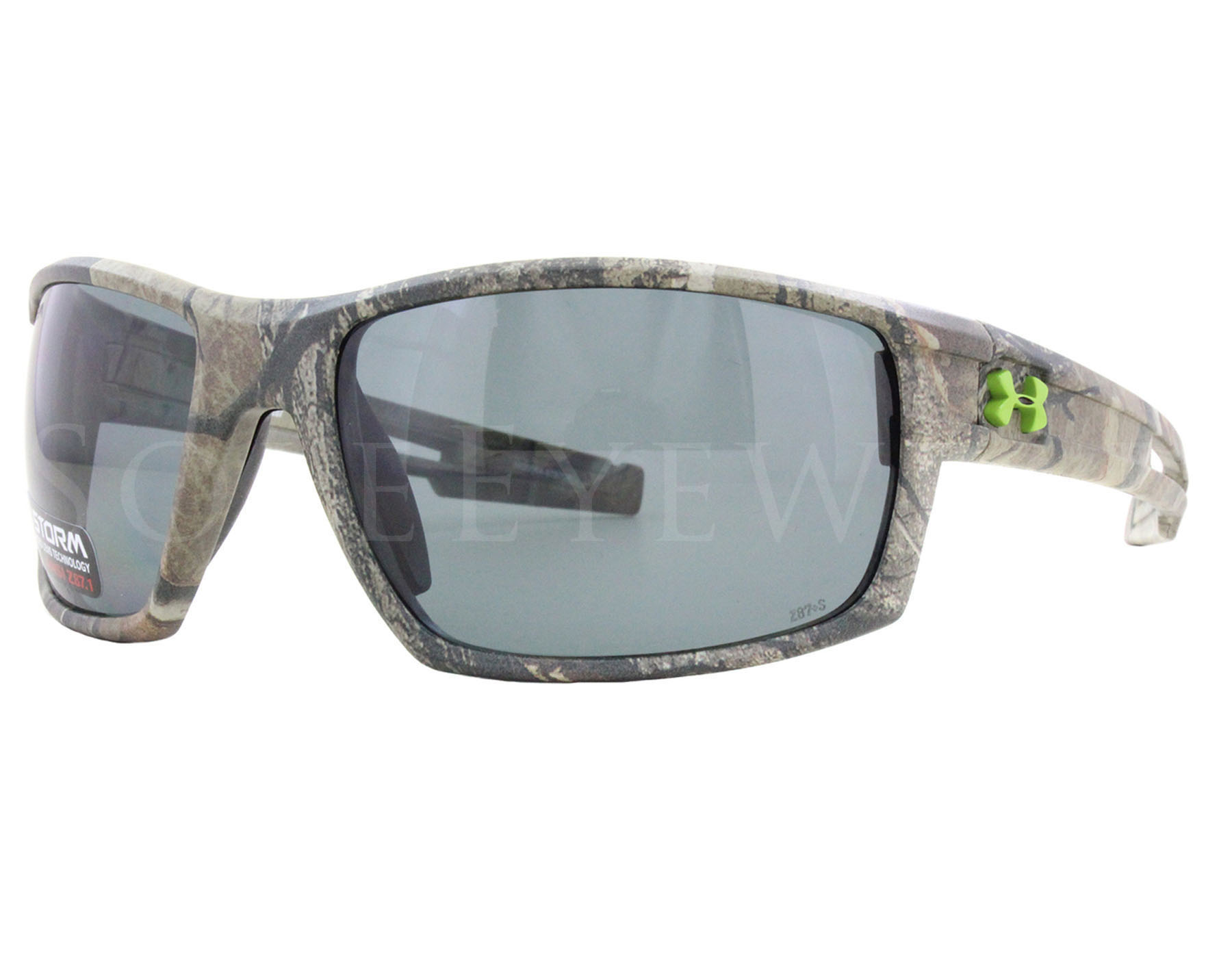 25b3186ccbb4 Details about NEW Under Armour Captain Realtree Storm Gray Polarized 8630064-878708  Sunglasses
