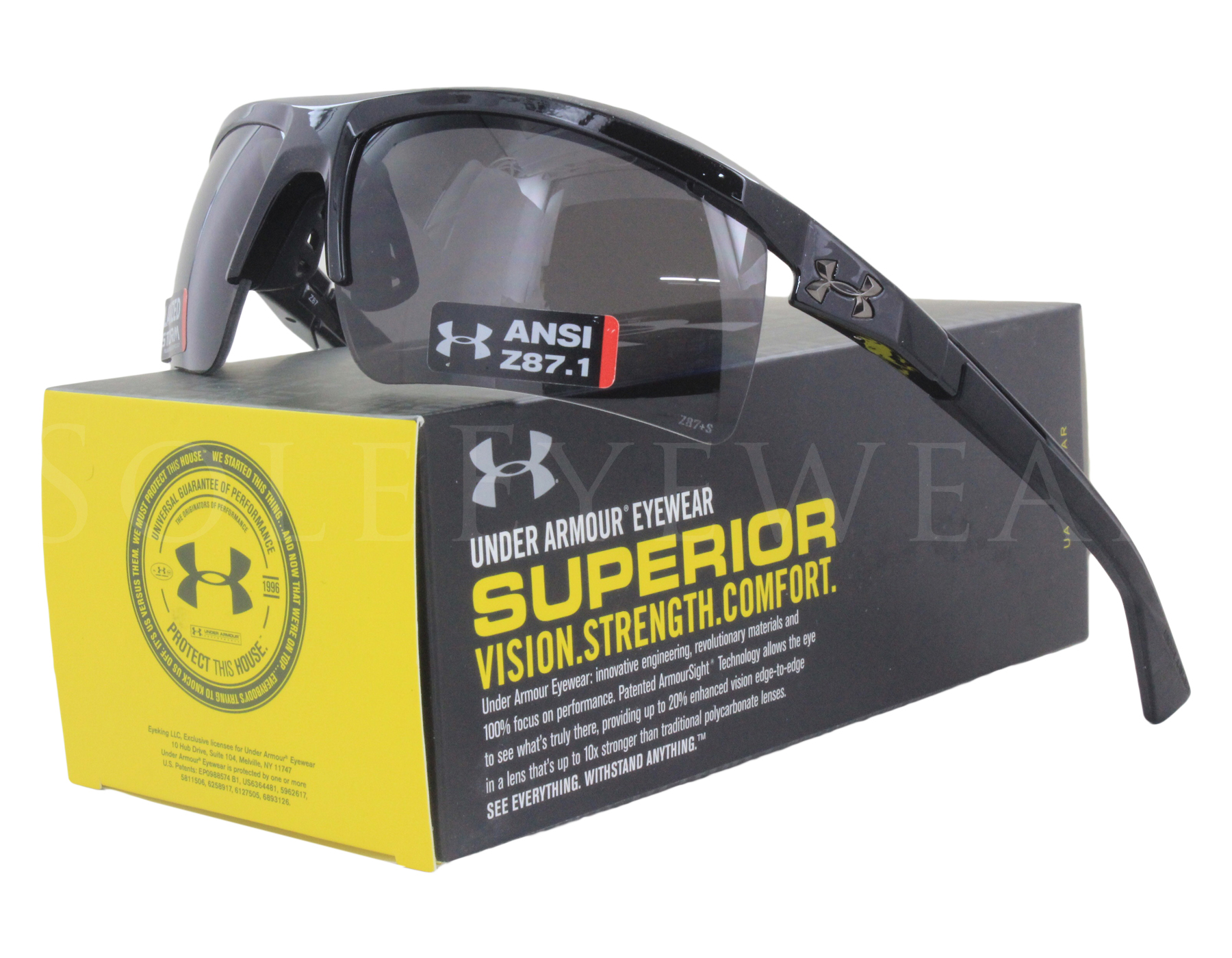 97204fe148bf Details about NEW Under Armour Core 2 Shiny Black / Gray Polarized  8630082-000008 Sunglasses