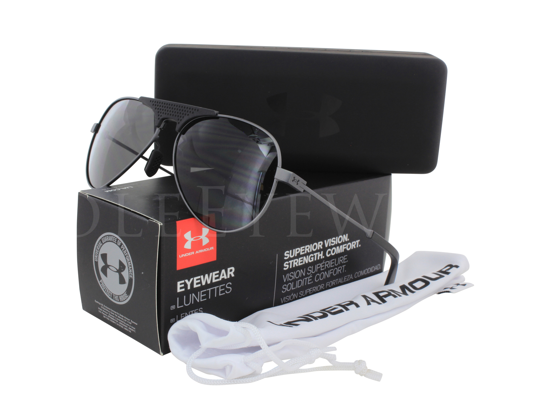 d0b0c2be35 Details about NEW Under Armour Getaway Satin Gunmetal Black Grey Sunglasses