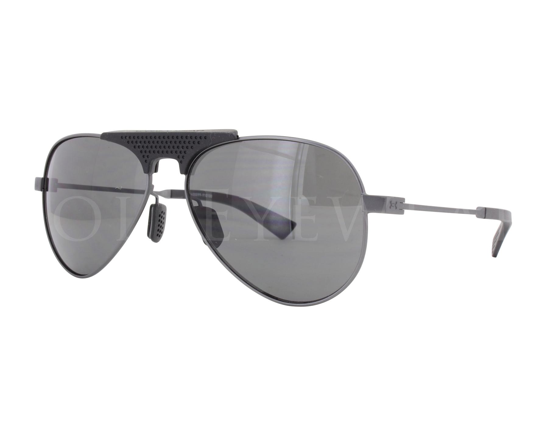 42753dbd2e NEW Under Armour Getaway Satin Gunmetal Black Grey Sunglasses ...