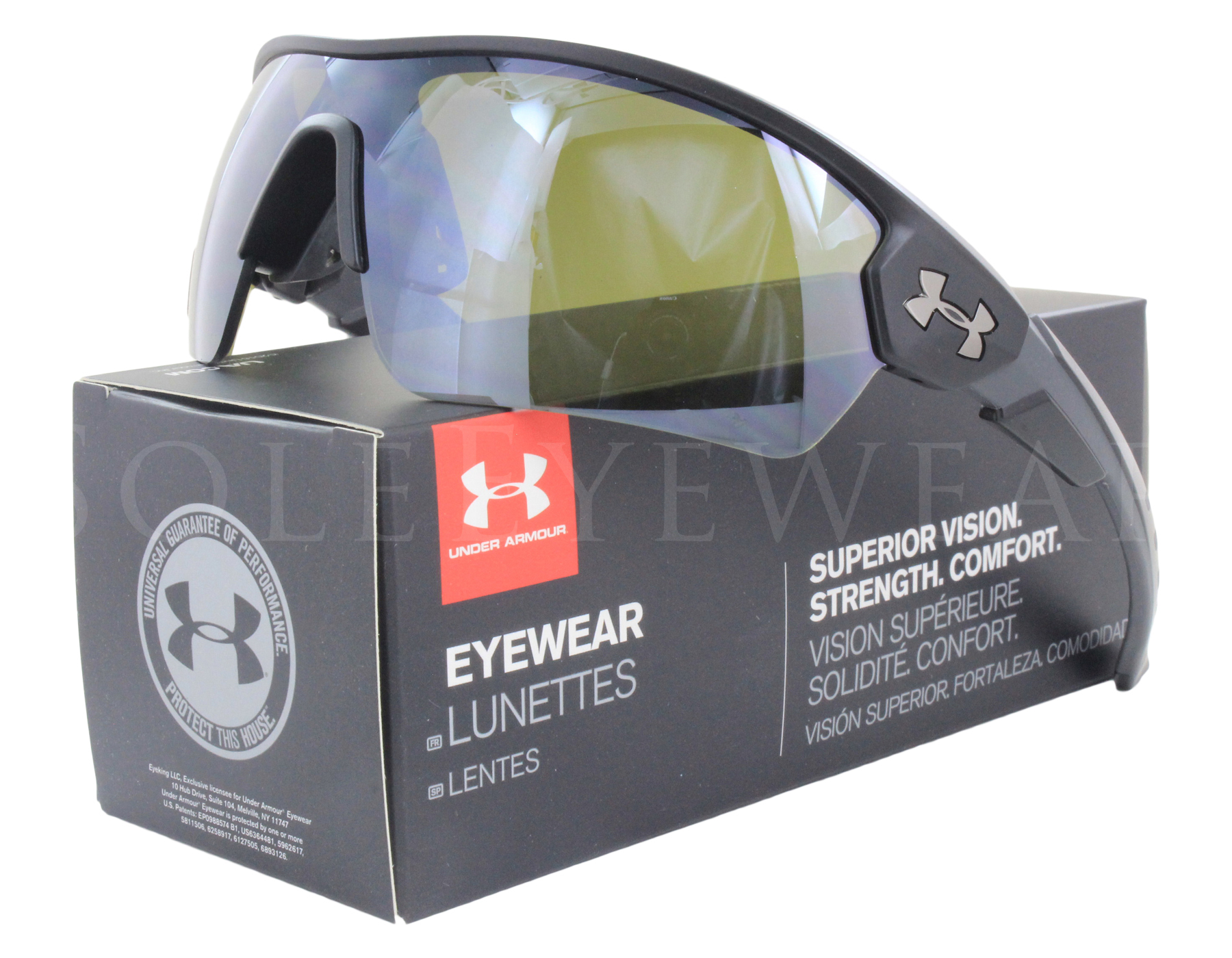 c574f77e336f Details about NEW Under Armour Rival Satin Black / Gameday 8600090 010931  Sunglasses